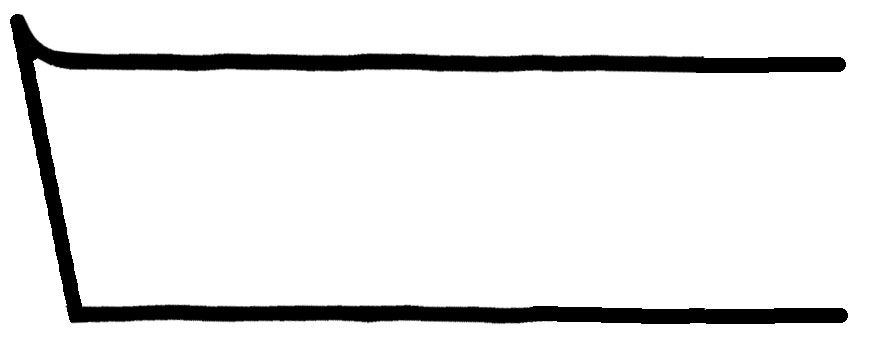 Querschnitt Schaber mit angeschliffenem Grat